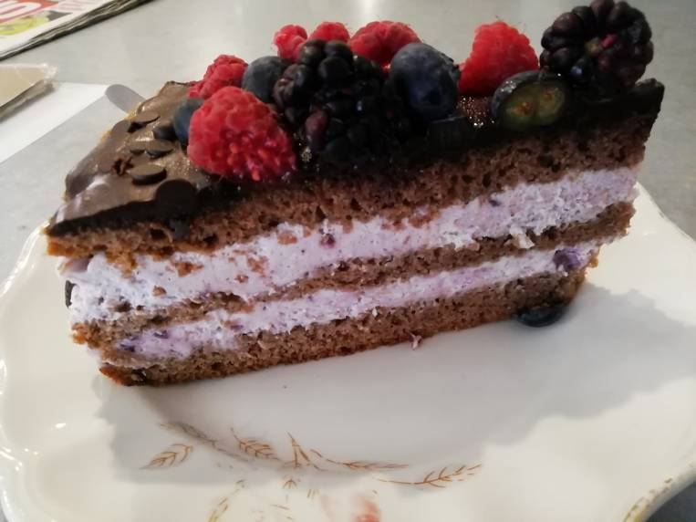Tarta de chocolate con mascarpone.