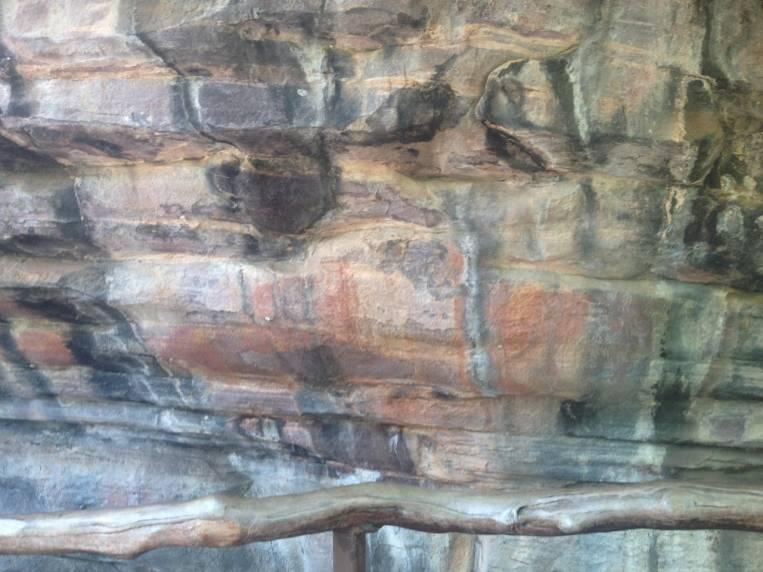 Pinturas rupestres en Uluru.