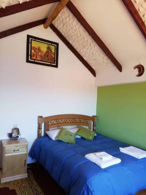 Mi habitación en el Hotel Jallalla en la Isla del Sol.
