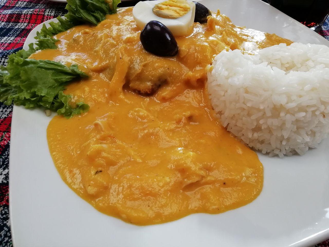 Ají de gallina, un plato típico peruano que tienes que probar.