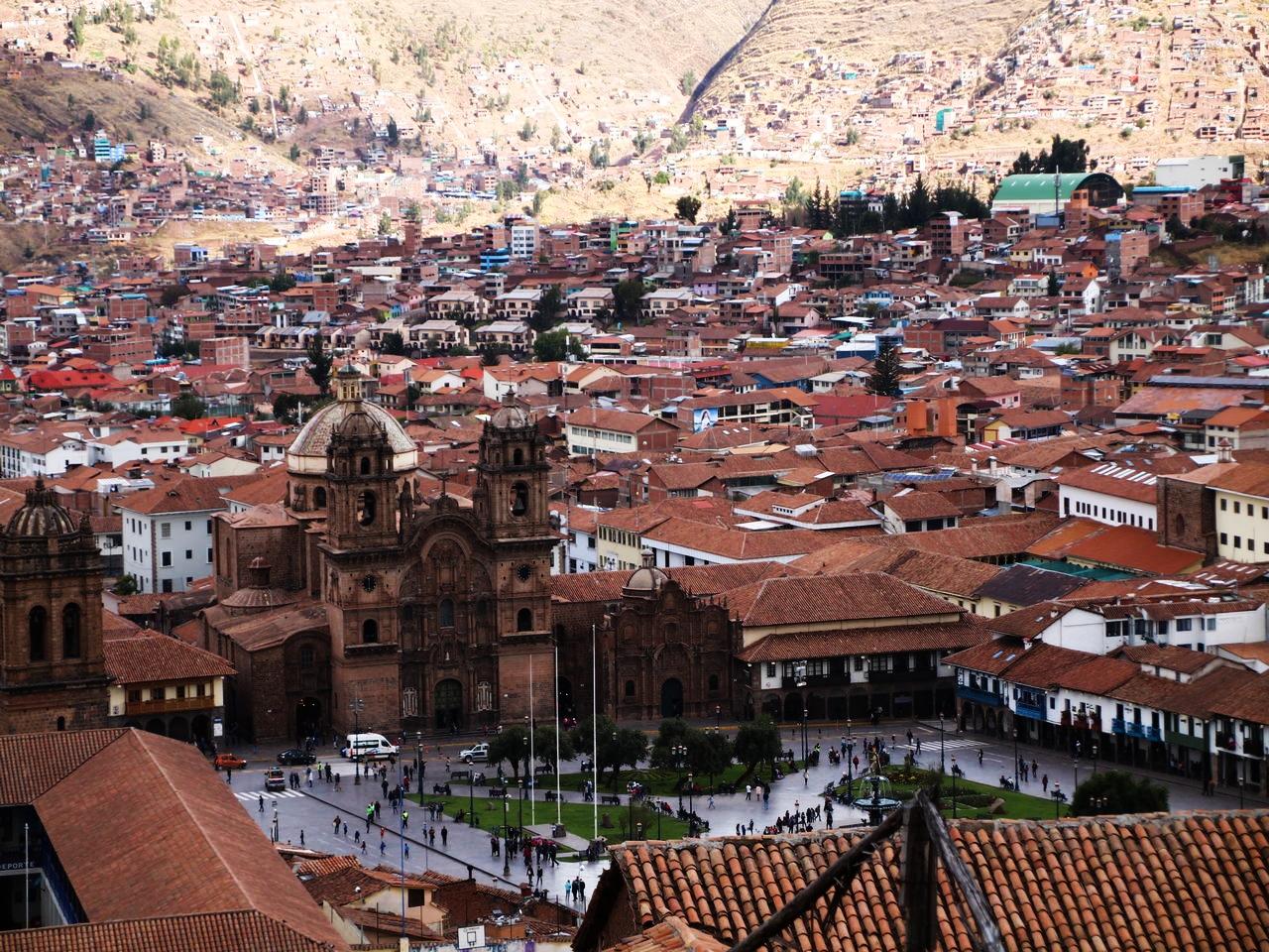 Las mejores vistas que ver en Cuzco en 3 días las tienes desde el mirador de San Cristóbal.
