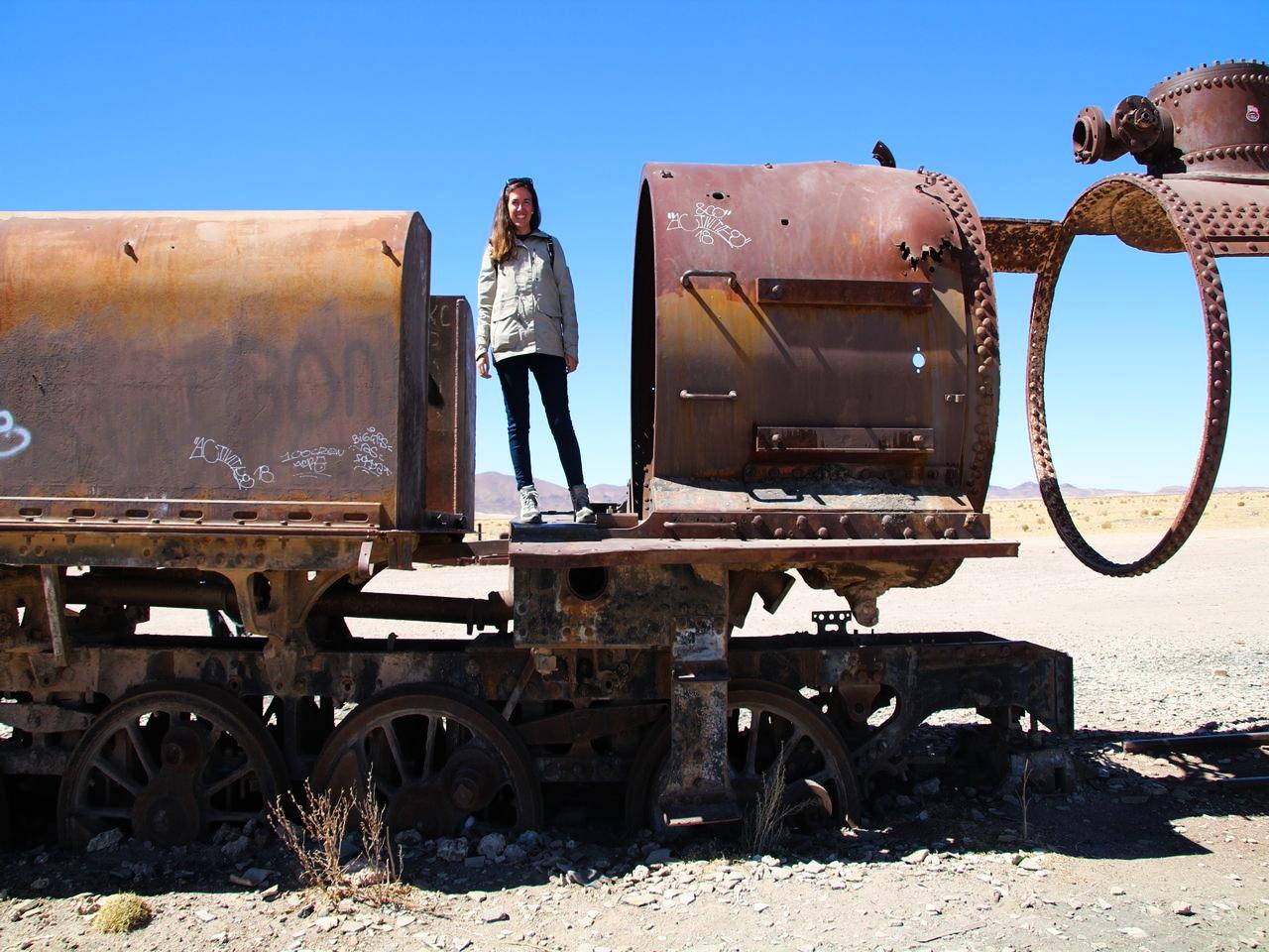 El cementerio de trenes es una parada del tour de 3 días por el Salar de Uyuni.