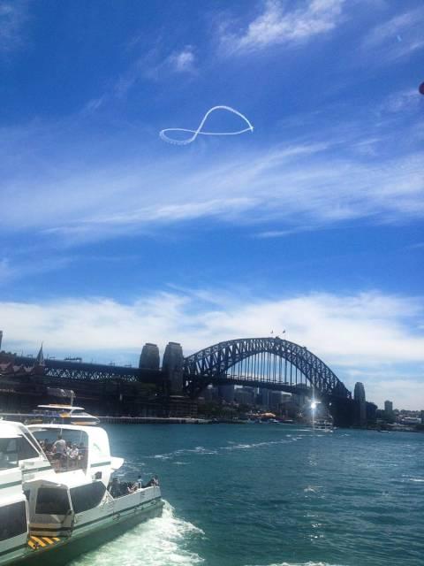 El símbolo de infinito que vi en el cielo pocas horas antes de dejar Australia. ¿Será una señal?