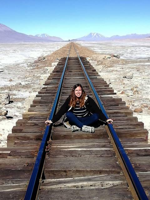Raíl de tren a Chile.