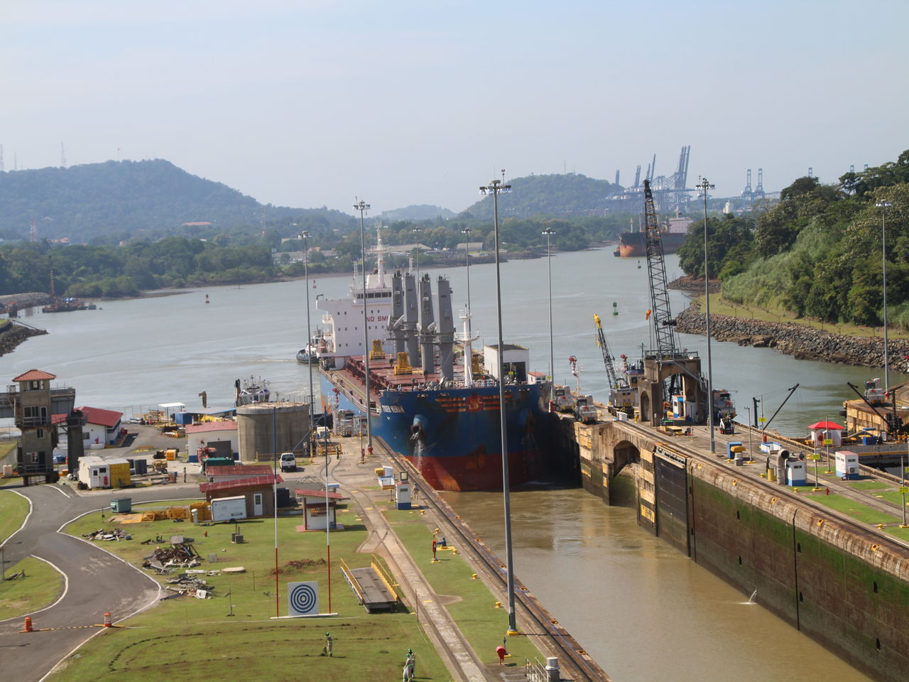 Cómo funciona el Canal de Panamá: Esclusas de Miraflores.