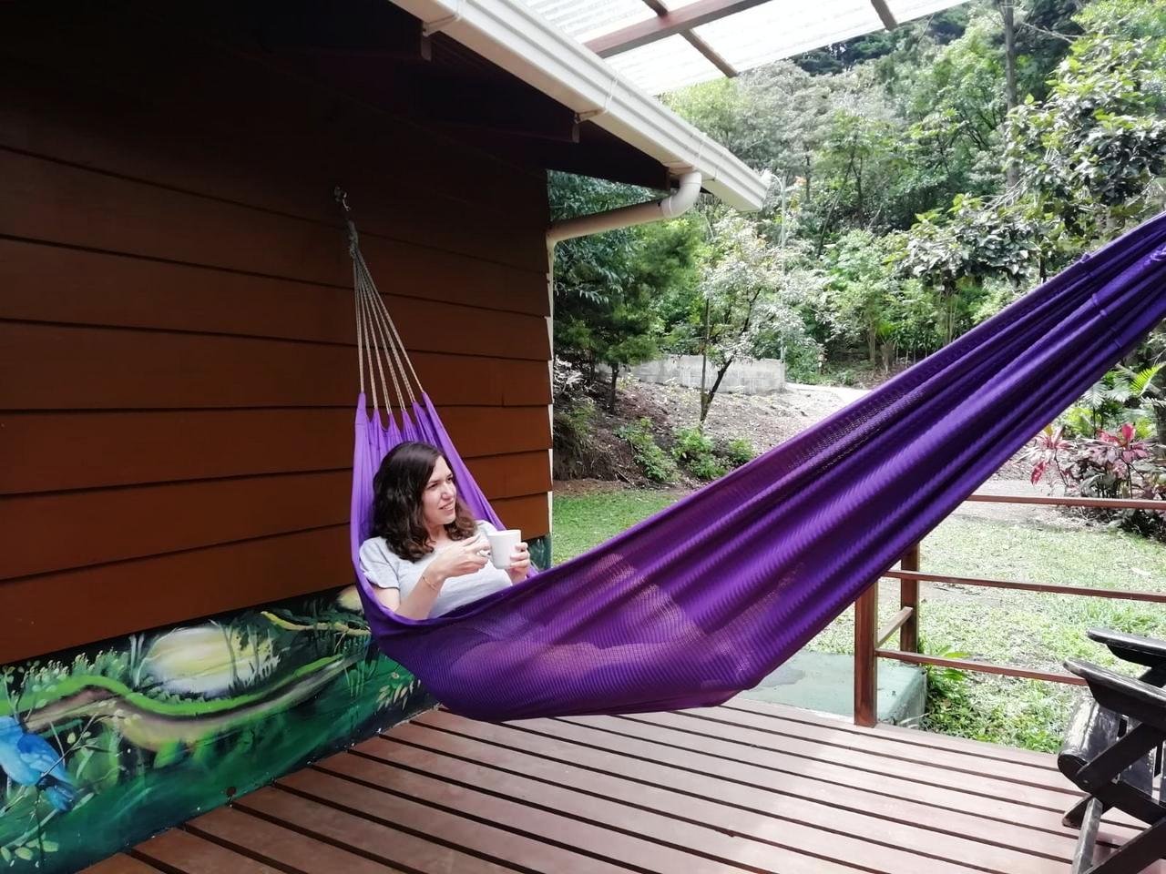 Dormir en una cabaña de madera fue súper reponedor.