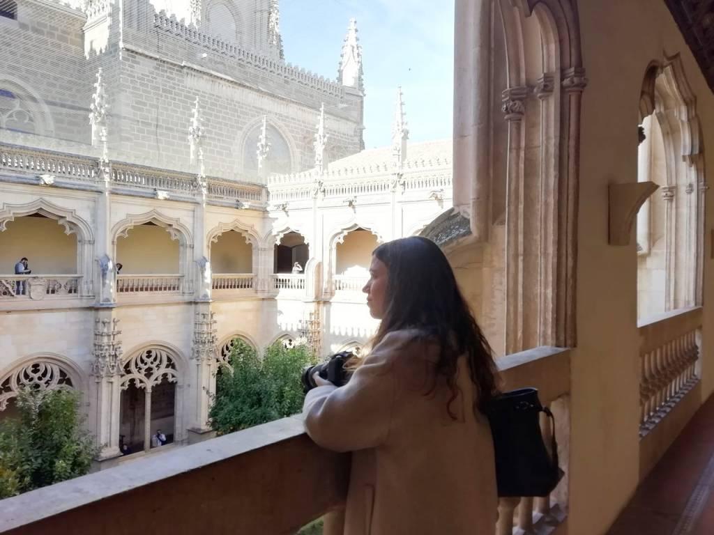 Qué ver en Toledo en dos días: claustro del Monasterio de San Juan de los Reyes.