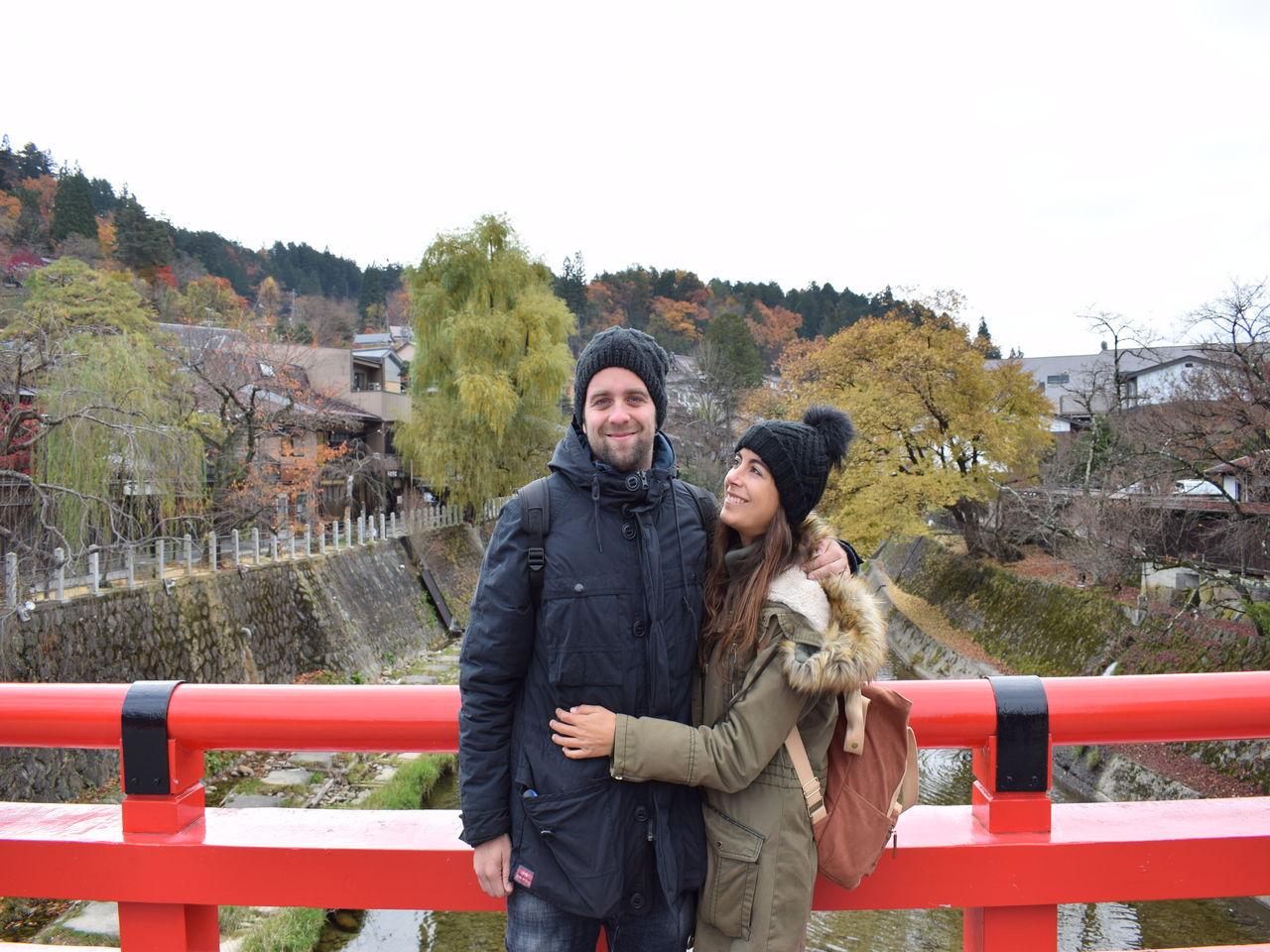 Andrea y Roger, de travelleating, en Takayama, Japón.