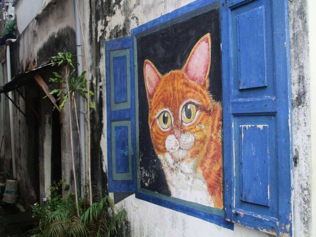 Arte urbano en Penang: proyecto 101 Lost Kittens.