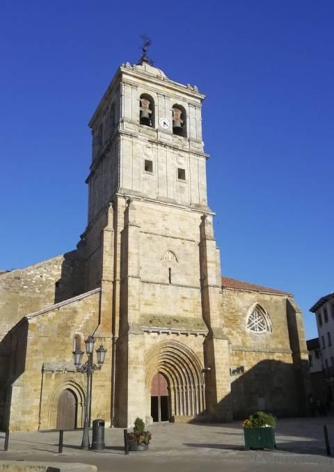 La Colegiata de San Miguel, en Aguilar de Campoo, declarada Bien de Interés Cultural.