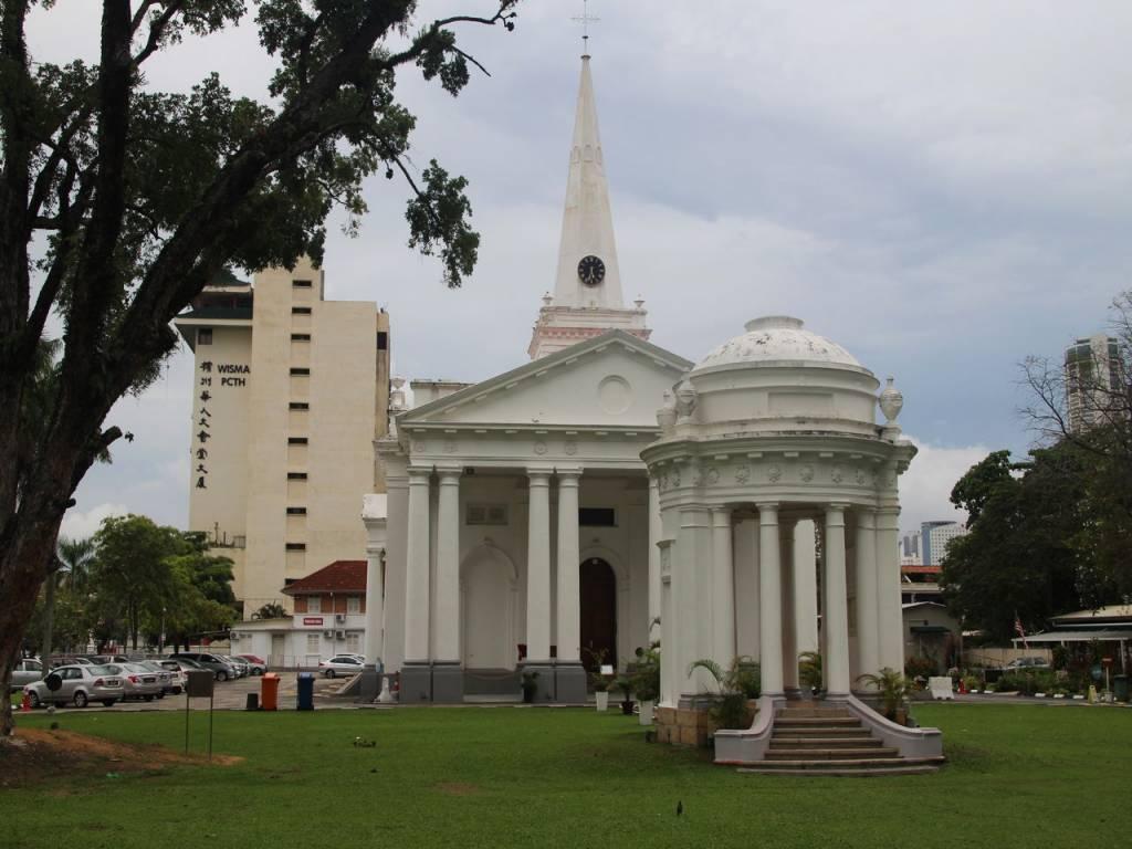 La iglesia de San Jorge se convirtió en la primera iglesia anglicana del sudeste asiático.