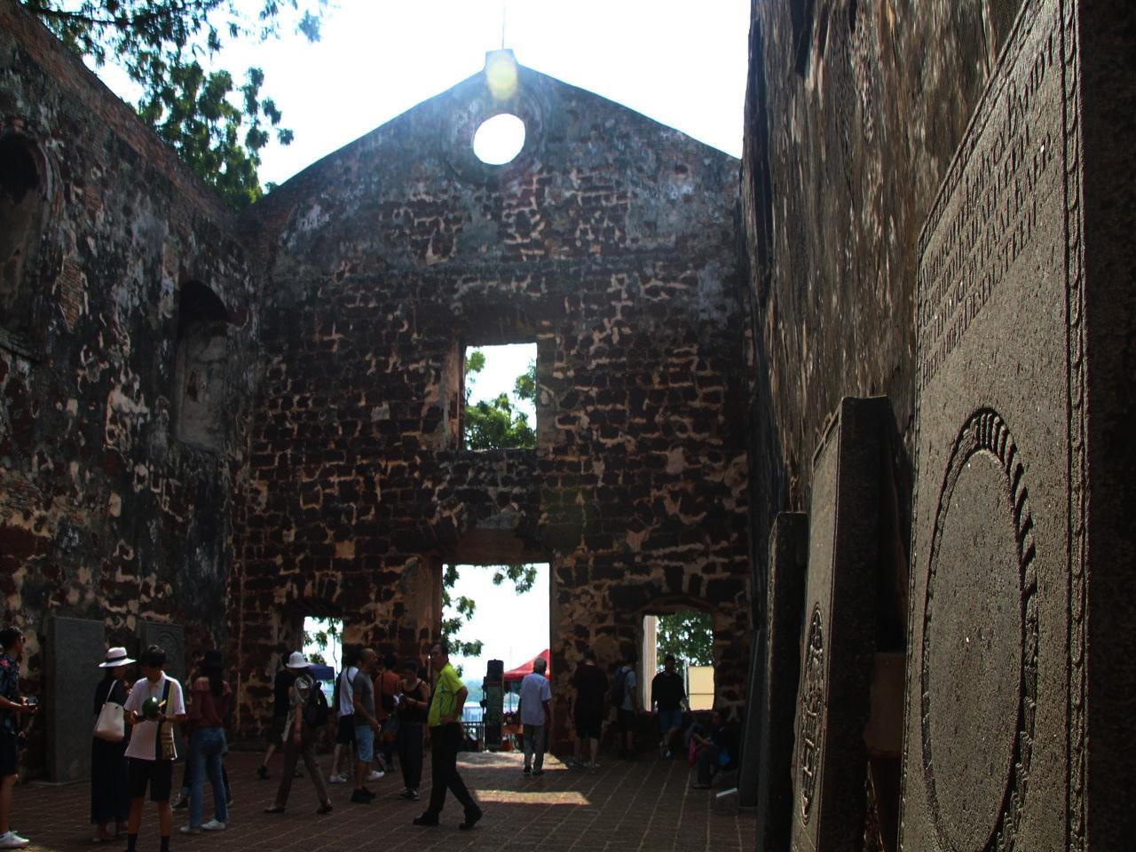 Qué ver en Malaca: ruinas de la iglesia de St. Paul.