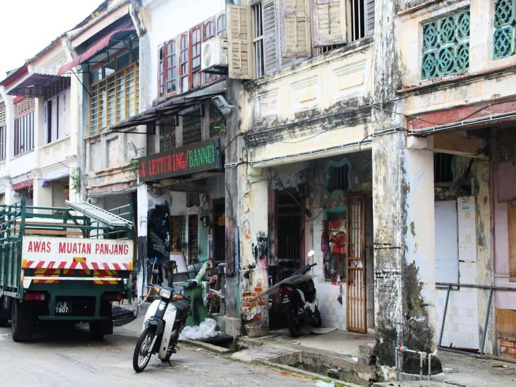 Qué ver en Penang en dos días: shophouses.