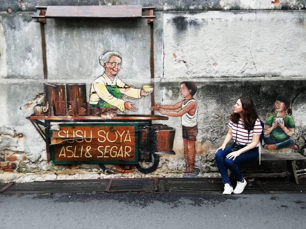 Street Art en George Town: Susu Soya Asli & Segar.