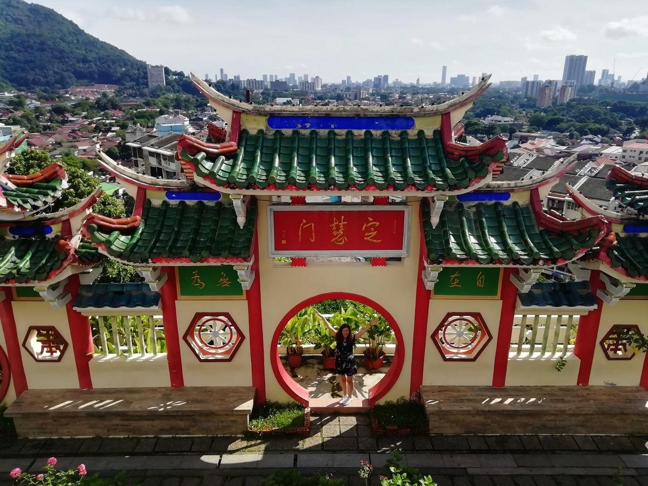 El templo de Kek Lok Si ofrece una de las mejores panorámicas en Penang.