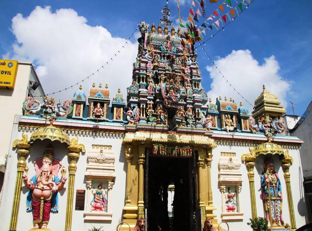 El templo Sri Mahamariamman es el templo hinduista más antiguo de Penang.