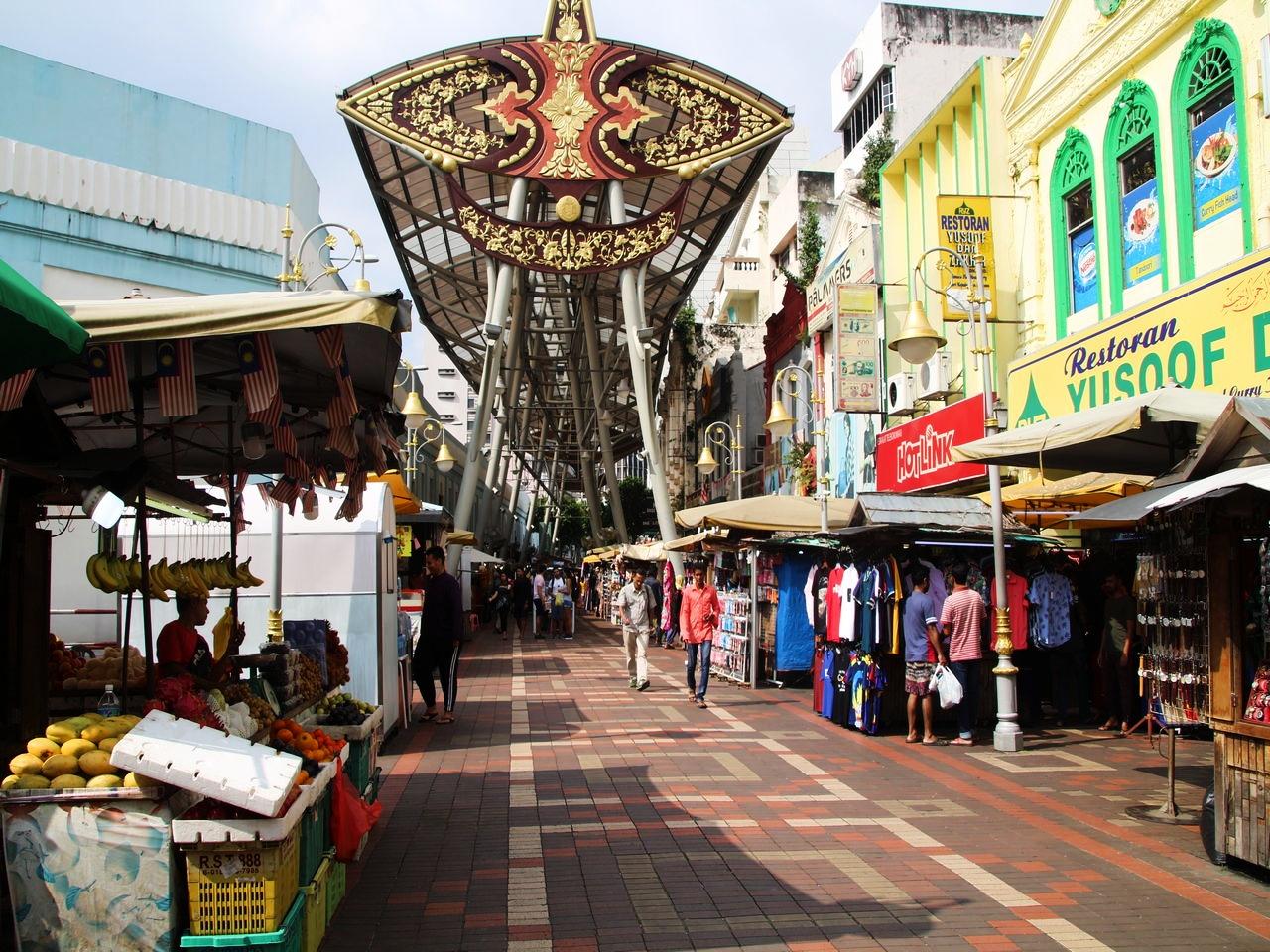 Kasturi Walk es un mercado al aire libre ubicado junto al mercado central.