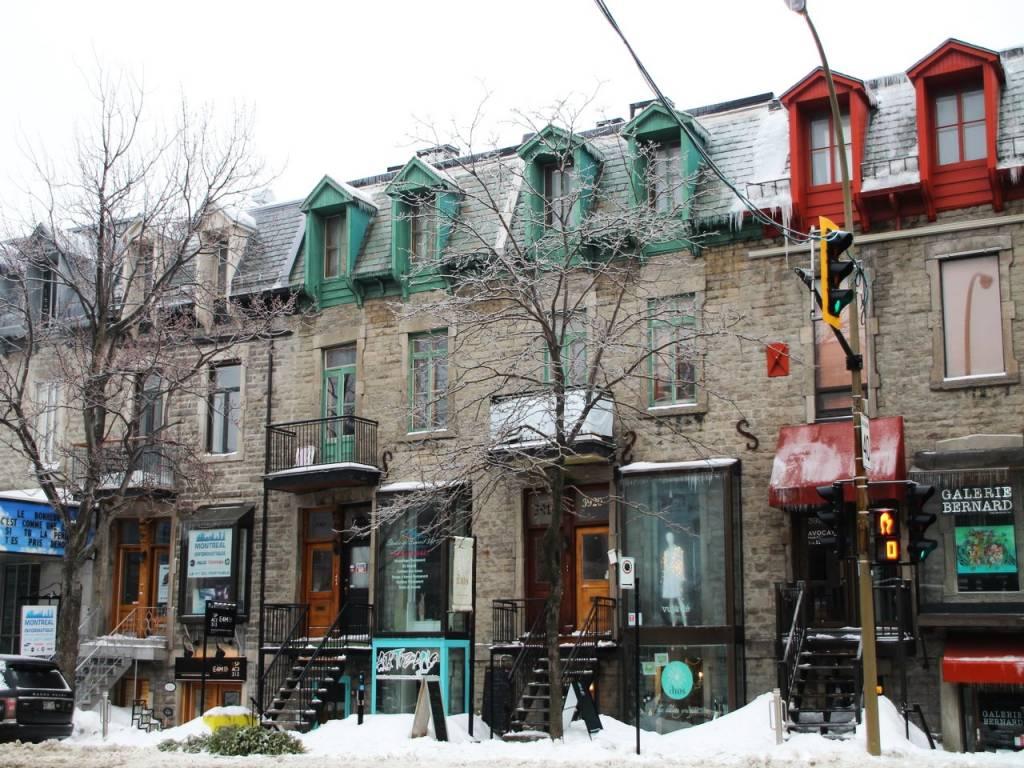 Qué ver en Montreal: Le Plateau-Mont-Royal y sus típicos adosados montrealeses.
