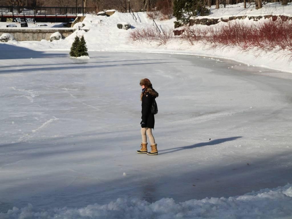 Siempre quise caminar sobre lagos helados. ¡Qué sensación!