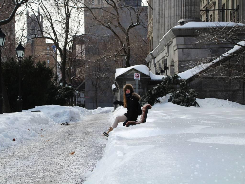 Es probable que veas cómo la nieve te llega hasta las rodillas.
