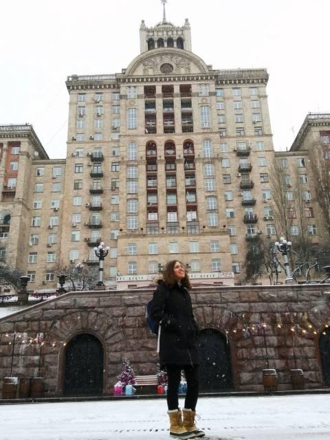 Khreshchatyk es la calle principal que ver en Kiev con edificios monumentales.