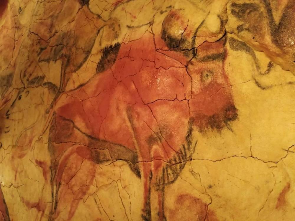 Pintura rupestre de un bisonte en la Cueva de Altamira.