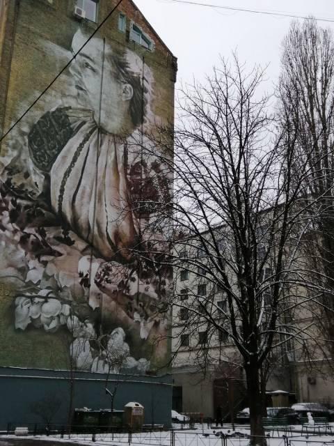 ¿Te gusta el arte urbano? En Kiev hay algunos murales que son obras de arte.