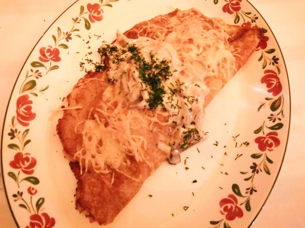 La masa de este pancake de Tsars'ke Selo es diferente a cualquier otra que hayas probado.