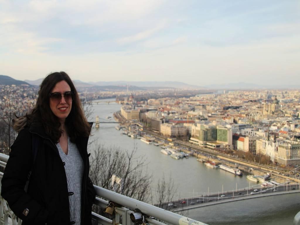 Vistas de Pest y el río Danubio desde la Ciudadela.