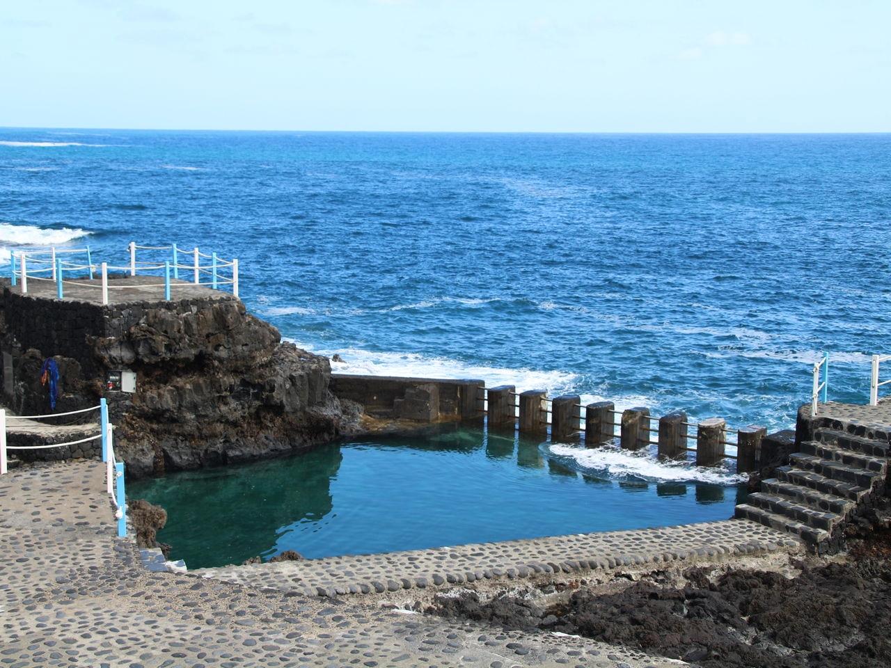 Piscina natural del Charco Azul en La Palma.