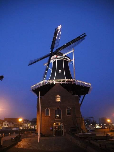 El molino de viento de Adriaan es un imprescindible que ver en Haarlem.