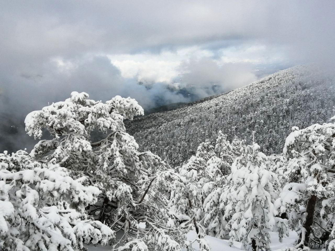 Aunque el día empezó muy nublado, al final se despejó y tuvimos unas vistas espectaculares de la Sierra de Guadarrama.