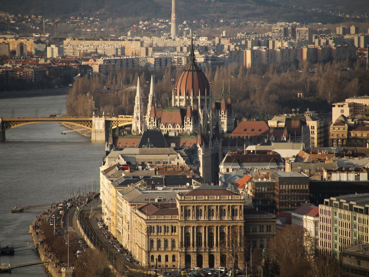 Un buen plan en Budapest es subir a la Citadella para disfrutar de estas vistas.
