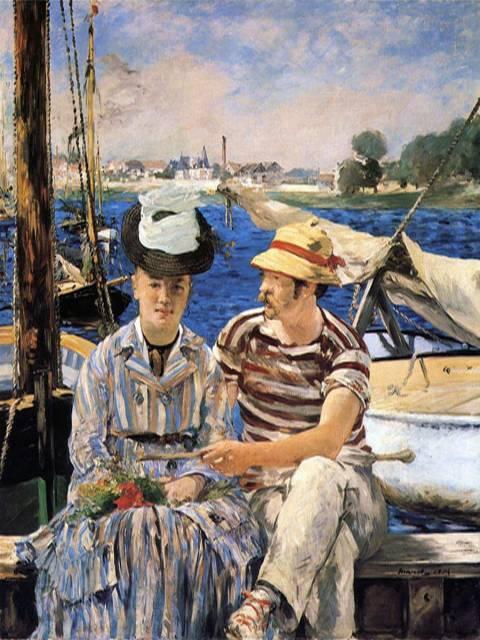 Argenteuil, de Édouard Manet, es uno de mis cuadros impresionistas preferidos. Fíjate en los trazos típicos del impresionismo.