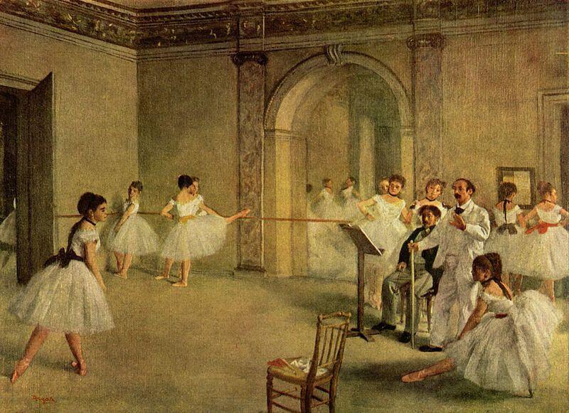 'El foyer de la danza de la Ópera de la rue Le Peletier' de Edgar Degas, uno de los pintores impresionistas más famosos.
