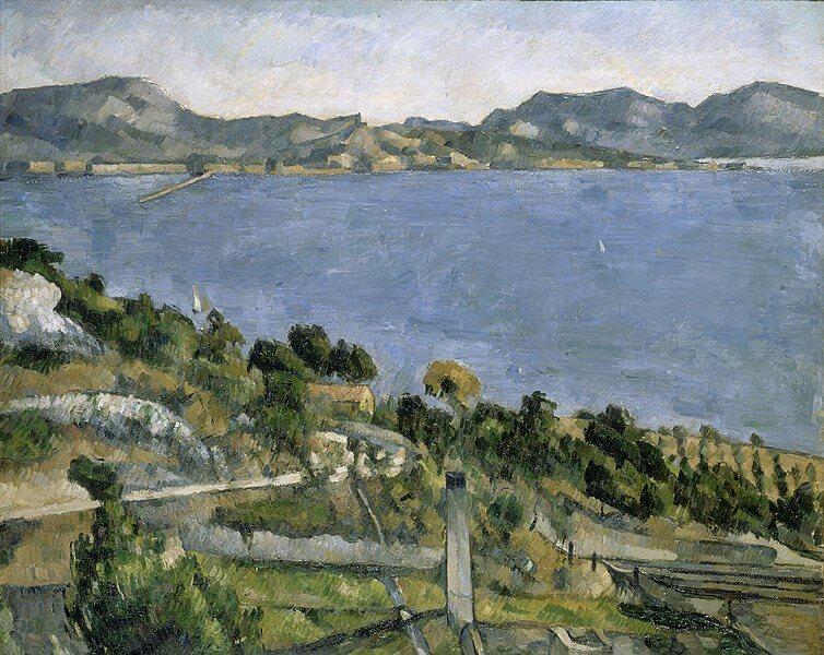 Cuadros impresionistas: 'El golfo de Marsella visto desde L'Estaque' de Paul Cézanne.