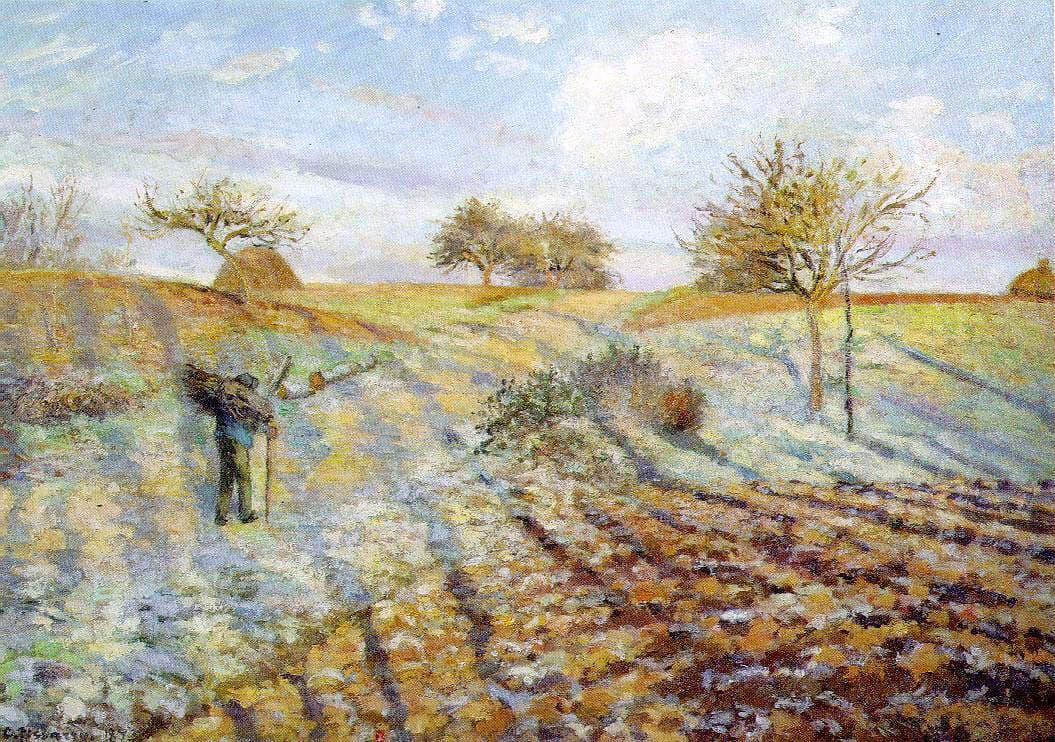 'La escarcha' de Camille Pissarro, uno de los padres del impresionismo.