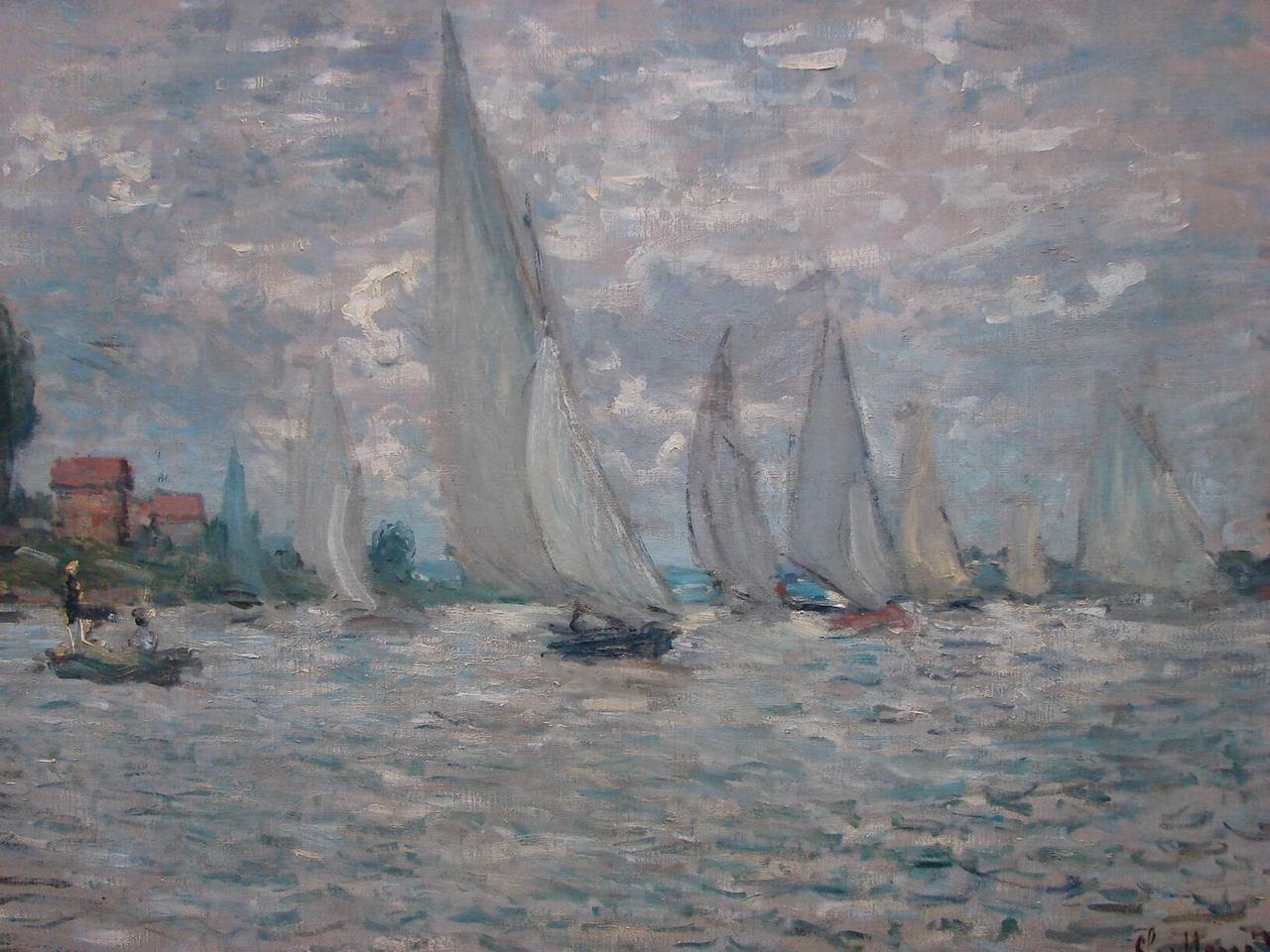 Impresionismo: 'Las barcas. Regatas en Argenteuil' de Claude Monet, uno de los pintores impresionistas más famosos.