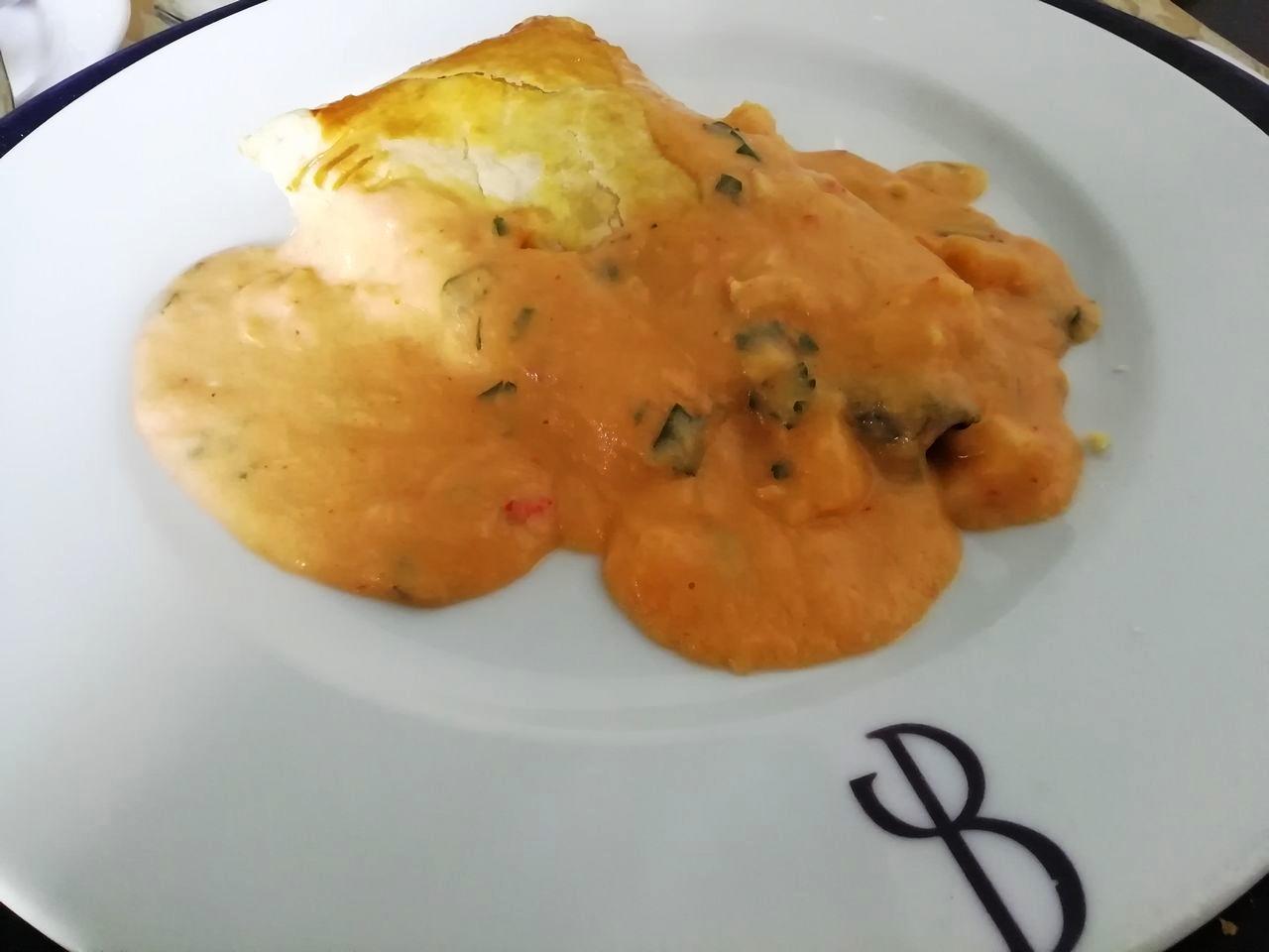 En Quinta da Boeira, en la zona de Vila Nova de Gaia, tomamos este pastel de verduras.