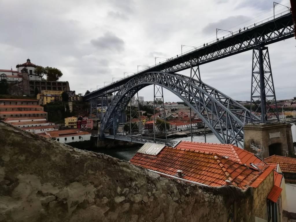 Qué ver en Oporto en 3 días: vistas del puente de Don Luis I.