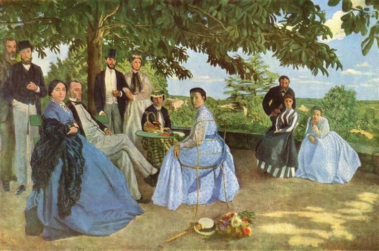 Cuadros impresionistas: 'Reunión de familia', de Fréderic Bazille, también conocido como 'Retratos de familia'.