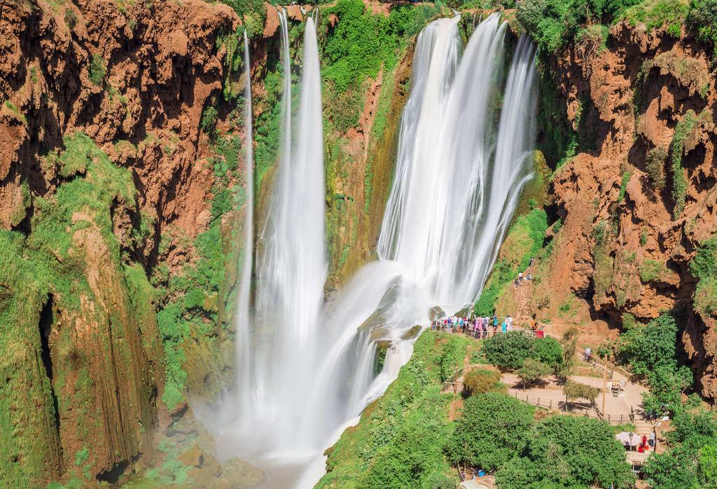 Las cascadas de Ouzoud son otra de las excursiones desde Marrakech más populares.
