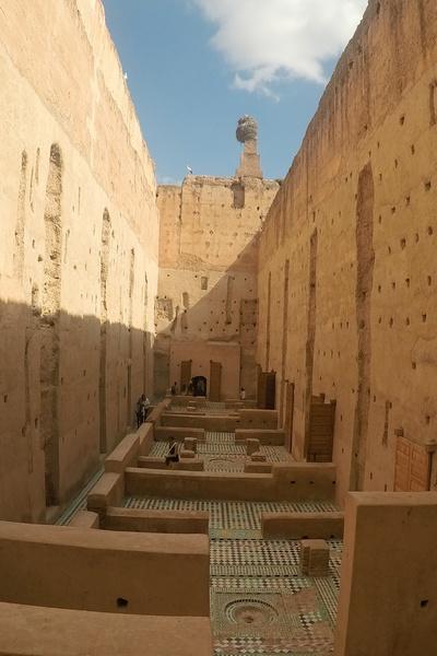Otro sitio que ver en Marrakech es el palacio El Badi, muy próximo a la plaza Jemaa el Fna.