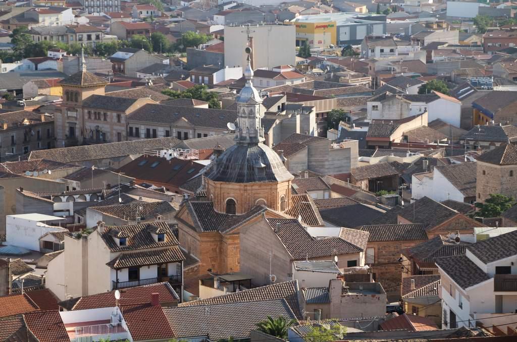 Vistas del pueblo de Consuegra desde el Castillo de la Muela.