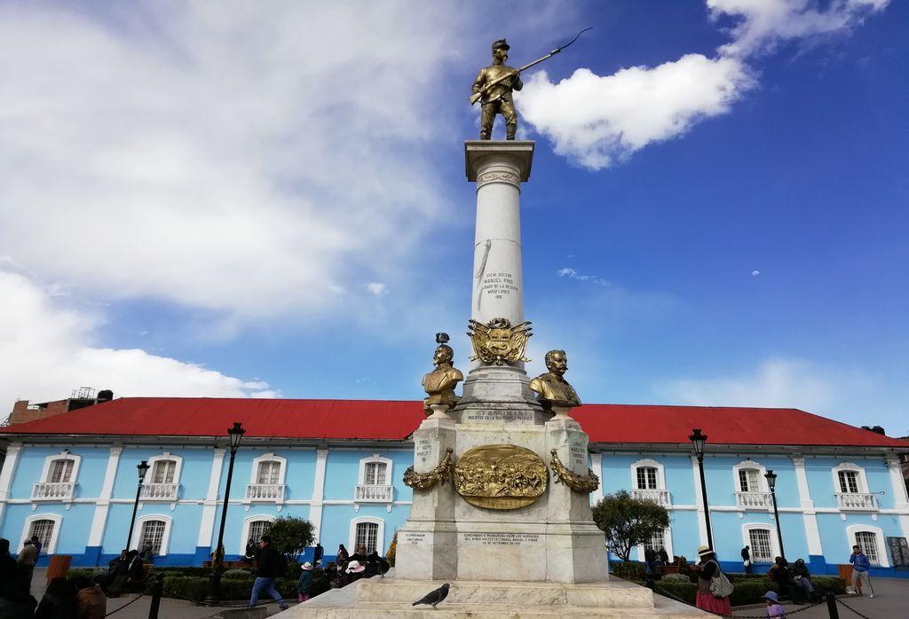Parque Manuel Pino, uno de los sitios más concurridos que ver en Puno.