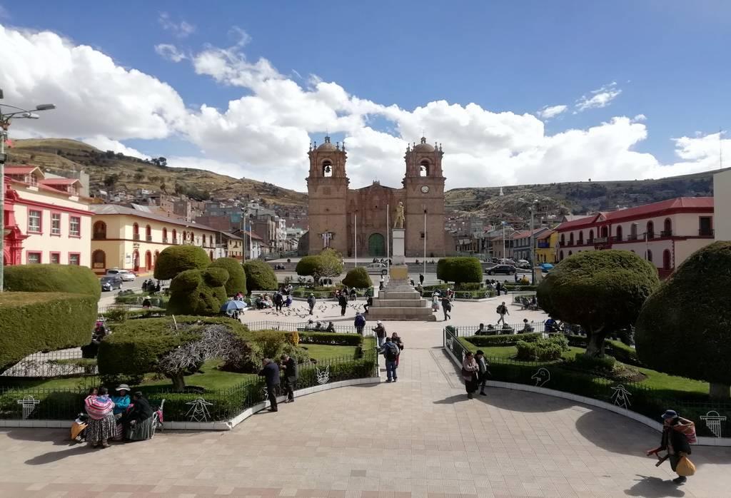 La Plaza de Armas es el centro neurálgico de Puno.