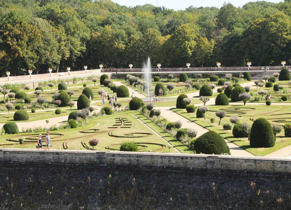 Castillo de Chenonceau: jardín de Diana de Poitiers.