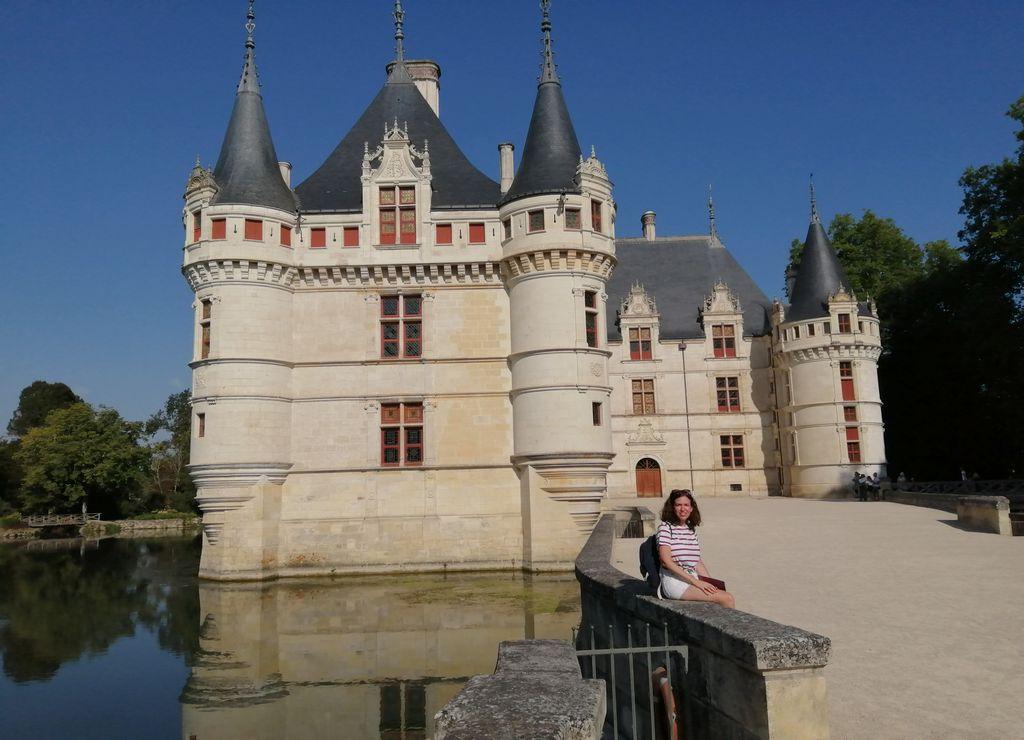 El castillo de Azay-le-Rideau es uno de los que más me gustó en los 7 días de ruta.
