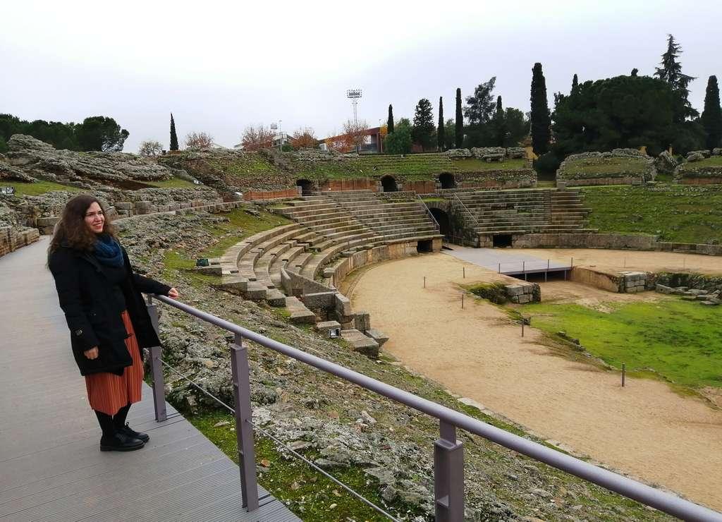 El Anfiteatro romano es uno de mis sitios preferidos que ver en Mérida.