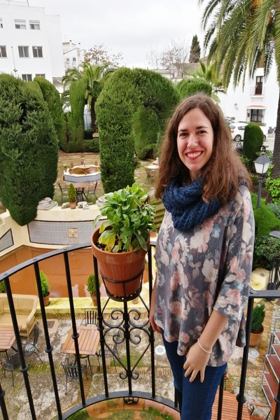 Feliz con estas vistas desde la habitación del Parador de Mérida.